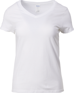 63V00L – Gildan V-Neck T-Shirt (Female)