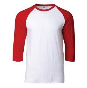 76700 – Gildan Cotton Raglan 3/4 Sleeve T-Shirt (Unisex)