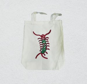 Canvas Tote Bag with embroidery (within A4)