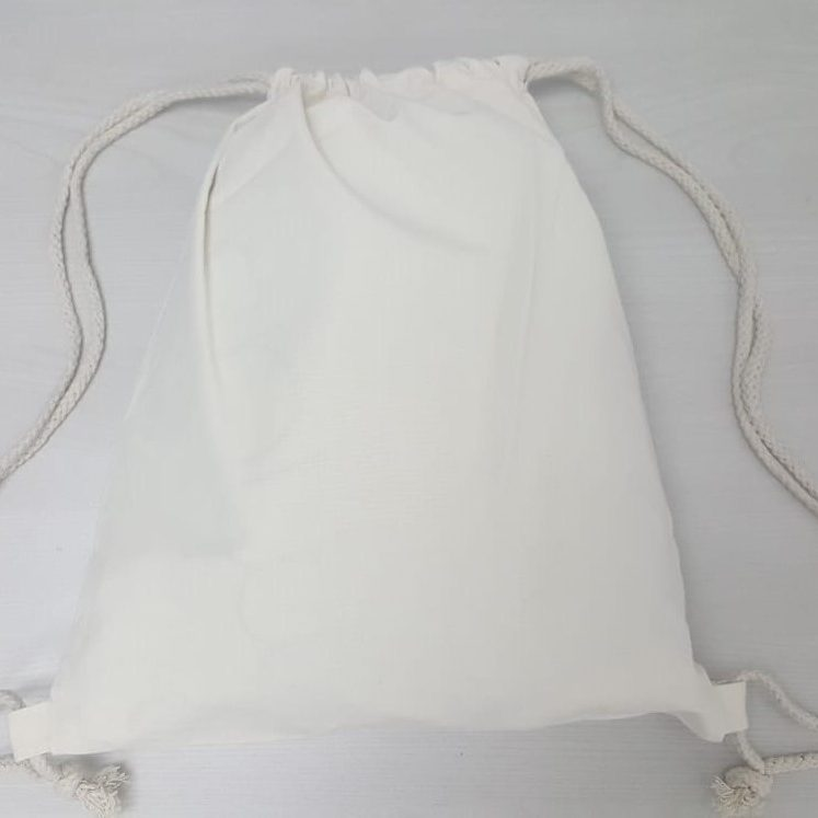 Canvas Drawstring Bag Plain